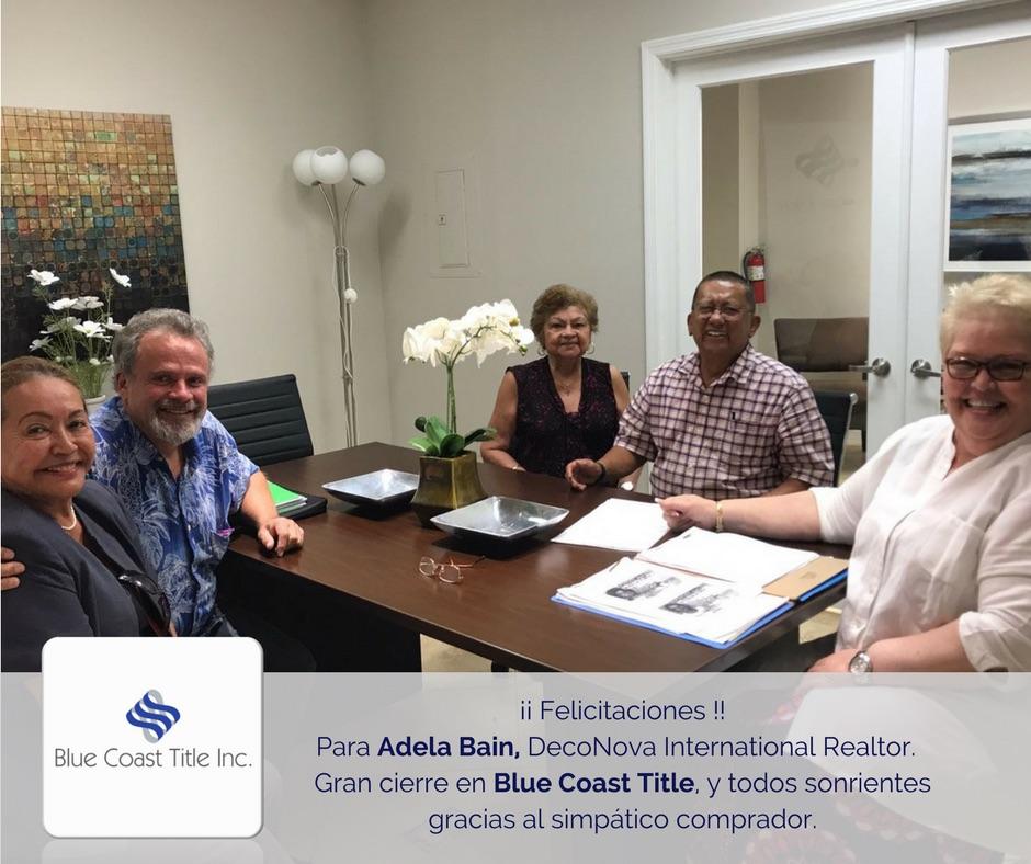 Blue coast title closing miami