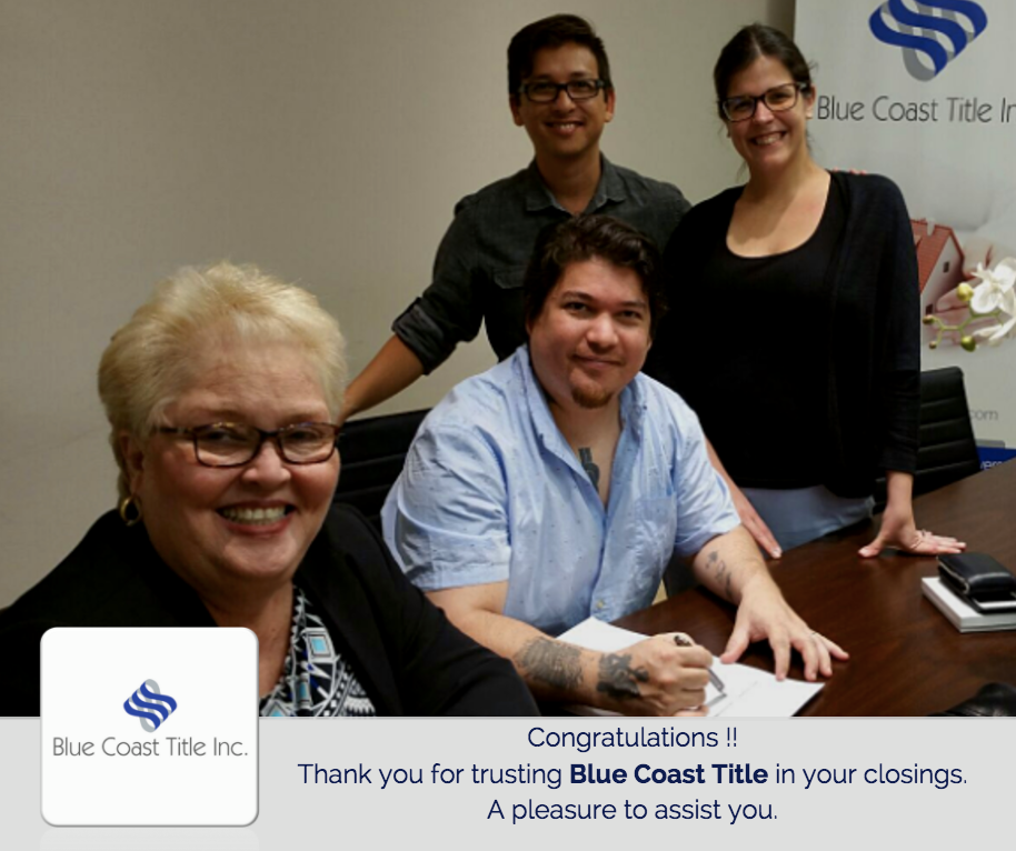 blue coast title inc closings